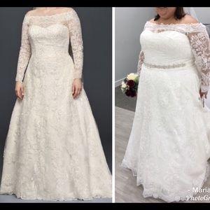 Oleg Cassini Dresses | Ivory Off The Shoulder Wedding Dress | Poshmark